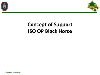 Concept of Support  ISO OP Black Horse