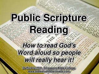 Public Scripture Reading