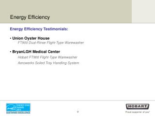 Energy Efficiency Testimonials:  Union Oyster House FT900 Dual-Rinse Flight-Type Warewasher