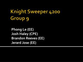 Knight Sweeper 4200 Group 9