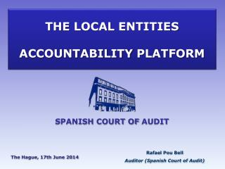THE LOCAL  ENTITIES ACCOUNTABILITY PLATFORM