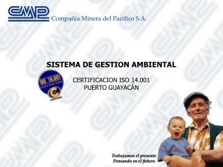 SISTEMA DE GESTION AMBIENTAL CERTIFICACION ISO 14.001 PUERTO GUAYACÁN