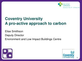 Coventry University A pro-active approach to carbon
