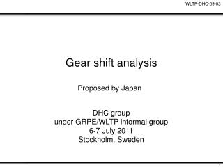 Gear shift analysis