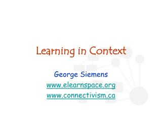 Learning in Context