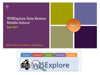 WISExplore  Data Retreat Middle School