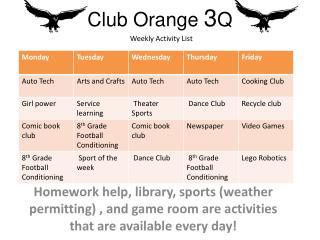 Club Orange  3 Q