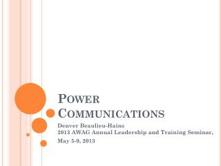 Power Communications