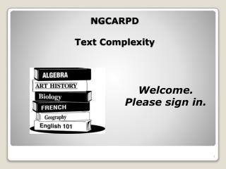 NGCARPD  Text Complexity