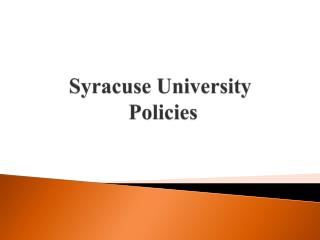 Syracuse University  Policies