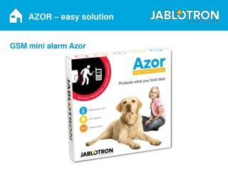 AZOR – easy solution