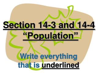 "Section 14-3 and 14-4 ""Population"""