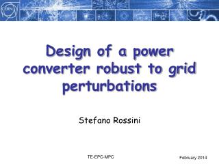Design of a power converter robust to grid perturbations