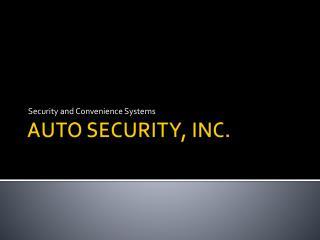 AUTO SECURITY, INC.