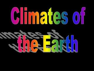 Climates of the Earth