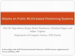 Attacks on Public WLAN-based Positioning Systems