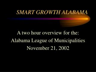 SMART GROWTH ALABAMA