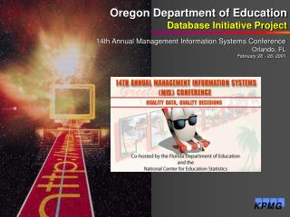 Oregon Department of Education Database Initiative Project