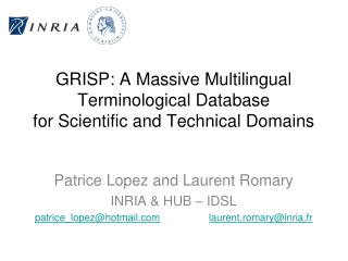 GRISP: A Massive Multilingual Terminological Database for Scientific and Technical Domains