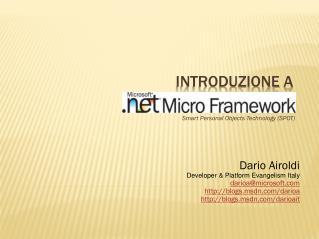 Introduzione  a   Micro Framework