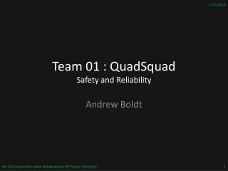 Team 01 :  QuadSquad Safety and Reliability