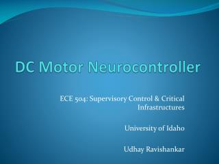 DC Motor  Neurocontroller