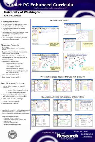 Tablet PC Enhanced Curricula