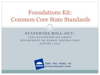 Foundations Kit:  Common Core State Standards