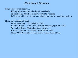 AVR Reset Sources