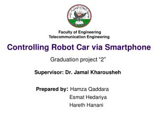 Controlling Robot Car via Smartphone