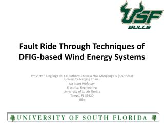 Fault Ride Through Techniques of DFIG-based Wind Energy Systems