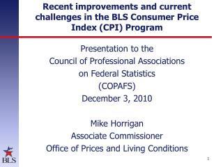 Recent improvements and current challenges in the BLS Consumer Price Index (CPI) Program