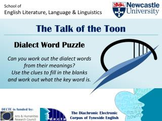 School of English Literature, Language & Linguistics