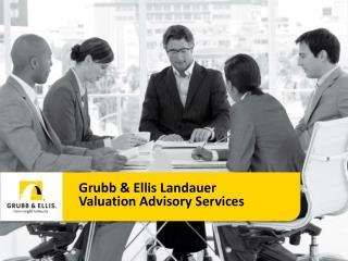 Grubb & Ellis Landauer Valuation Advisory Services