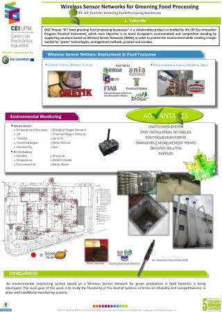 Wireless Sensor Networks for Greening Food Processing
