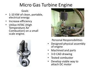 Micro Gas Turbine Engine