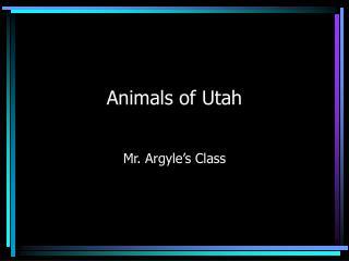 Animals of Utah