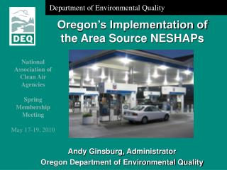 Oregon's Implementation of the Area Source NESHAPs
