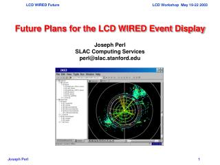 Future Plans for the LCD WIRED Event Display