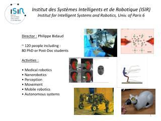 Institut des Systèmes Intelligents et de Robotique (ISIR)