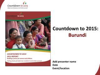 Countdown to 2015:  Burundi