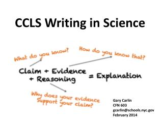 CCLS Writing in Science