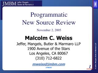 Programmatic New Source Review
