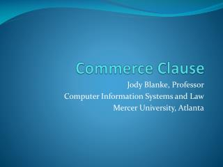 Commerce Clause