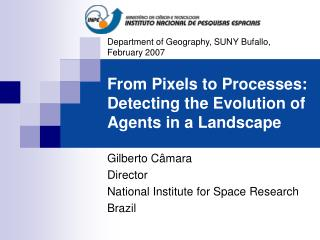From Pixels to Processes: Detecting the Evolution of Agents in a Landscape