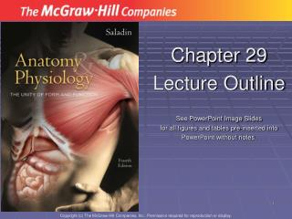 Chapter 29 Lecture Outline  See PowerPoint Image Slides for all figures and tables pre-inserted into PowerPoint without