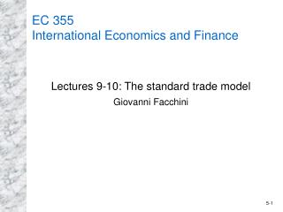 EC 355  International Economics and Finance