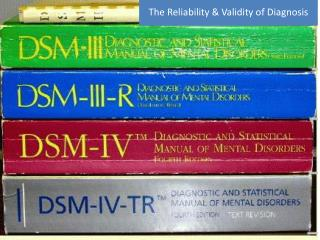 The Reliability & Validity of Diagnosis