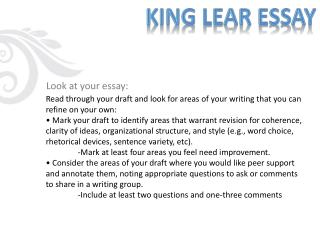 Look at your essay: