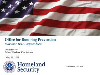 Office for Bombing Prevention Maritime IED Preparedness